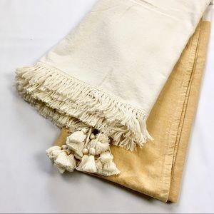 Boho Table Cloth With Fringe/Tassel